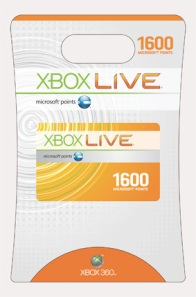 Get a free 1,600 Microsoft Points card just like this.