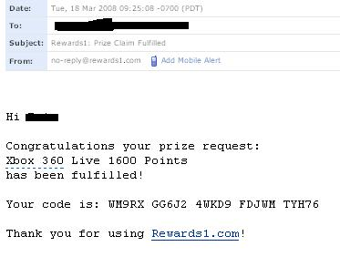 Free Microsoft Points: Points Awarded | 1337 To Noob Gamers